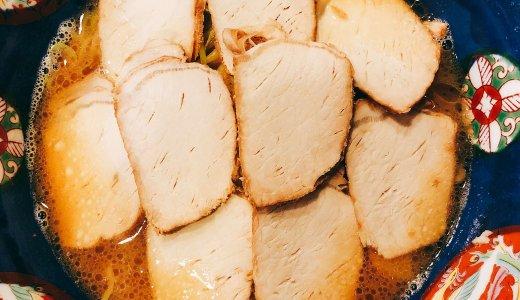 強めの塩分とたっぷり油が効く天鳳のチャーシュー麺