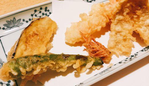 新宿つな八の天ぷら定食