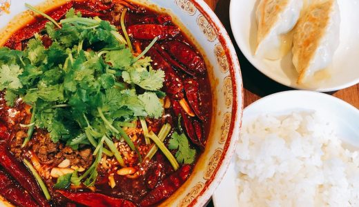 六本木ヒルズの中華料理店「ゴールデンタイガー」の超辣担々麺