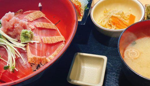 六本木ピラミデにある和食屋「紺碧の海」の数量限定まぐろ丼