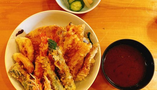 Tempura Yamanoue Roppongi in Tokyo Midtown, where the special tempura don was delicious!