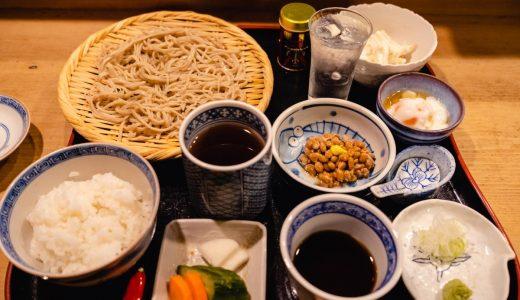 赤坂の割烹「峰村」の新そばランチ