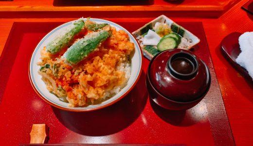 西麻布の裏路地の天ぷら「魚新」の天ばら